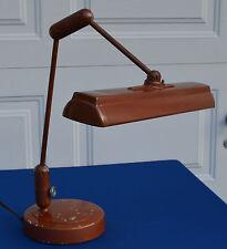 Vintage 1940's Art Deco Industrial Lamp Banker/Lawyers Fluorescent Desk Lamp#995