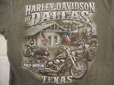 Harley Davidson Motorcycles Allen Texas Train Station Souvenir T Shirt Size L