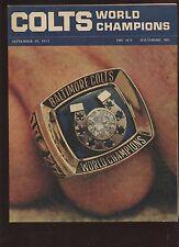 September 19 1971 Baltimore Colts Baltimore Sun Supplement EXMT