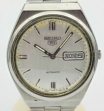 SEIKO 5 Automatic Day/Date Wristwatch 17J Cal. 6309A 8930 Vintage 1984 Watch