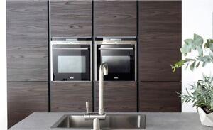 Burbidge Otto Laminate Dark Walnut Handleless Kitchen, Rigid Built Kitchens