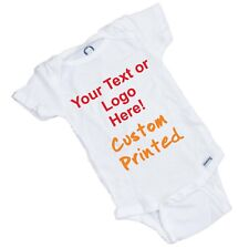 10 Custom Printed Onesies with your Logo / Photo or Text. Great for Advertising