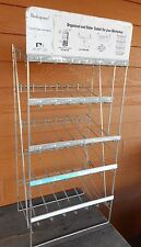 Industrial Store Display National Lock Organize Vintage Rack  Shelf Metal Wire