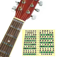 2 x Guitar Neck Fretboard Note Map Fret Sticker Lables Decals Learn Fingerboard