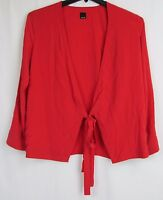 Dolce Vita Red Wrap Long Sleeve Blouse Women's Size Small