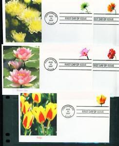 2007 FDC Set of 10 - Scott# 4166-75 - Flowers (coils) - Fleetwood