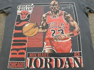 VTG Chicago Bulls #23 Michael Jordan Double Sided Single Stitch T Shirt Medium M