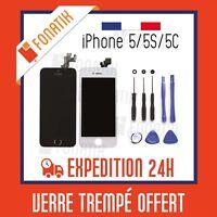 ECRAN LCD POUR IPHONE 5/5C/5S NOIR/BLANC + VITRE TACTILE SUR CHASSIS + OUTILS