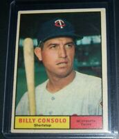 1961 TOPPS BILLY CONSOLO MINNESOTA TWINS #504 EX/EXMT