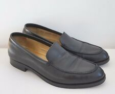 POLO RALPH LAUREN Black Calf Leather Loafer Shoes US-10.5D ITALY