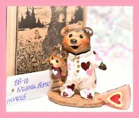 ❤️Wee Forest Folk BB-10 Nightie Bear Valentine Heart SPECIAL FairyTales LE 75❤️