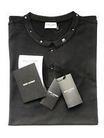 SAINT LAURENT Paris STUD Herren Polo-Shirt schwarz Gr. L  NEU