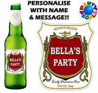 PERSONALISED BEER BOTTLE LABEL (TYPE 1) - ANY NAME & MESSAGE - GIFT FOR DAD!