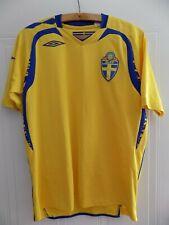 78399ceeb 2008 EURO Svenska Sweden Retro Football Mens Soccer Jersey Shirt Trikot  Adults