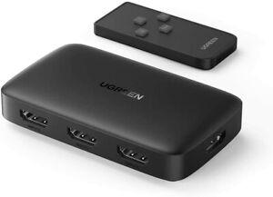 UGREEN HDMI Switch 4K - 3 IN 1 Out HDMI Verteiler - UHD Automatisch HDMI Switch