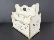 "Petite Florentine Hand Painted Desktop Letter Holder 8"" Wide Organizer"