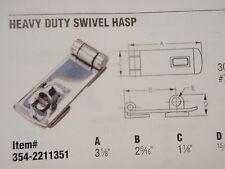 HASP SWIVEL HEAVY DUTY 304 STAINLESS STEEL 2211351 MARINE HARDWARE BOAT RV PARTS