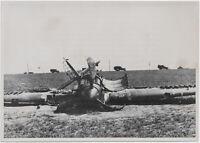 Eine abgeschossene Hurricane. Orig-Pressephoto, von 1940