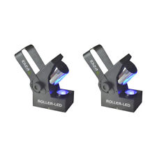 2x Ibiza Light Roller LED 10W RGBW DMX Barrel Scanner Effect Disco Lighting