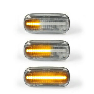 Sequential Smoked LED Side Marker Signal Light for Audi A4 S4 B6 B7 A6 C5 TT A8
