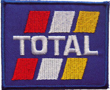 New Total Motor Oil Logo Racing embroidered iron on patch. 3.4 x 2.75 inch (i19)