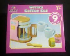 KidKraft Wooden Kids Pastel Coffee Set Pretend Play Kitchen Toy - 63163