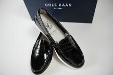 NIB COLE HAAN Size 5 Women's Black 100% Patent Leather PINCH Weekend Loafer