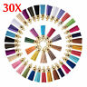 Lots 30Pcs Suede Leather Tassel DIY Keychain Pendant Jewelry Finding Charms NEW