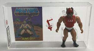 MOTU Vintage Loose Zodac with Comic Series 1 Taiwan Mattel 1982 AFA UKG 80%