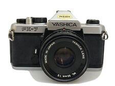 Yashica FX-7 mit Yashinon ML 2,0/50mm und Zubehörpaket