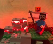 LEGO Minecraft-inspired LED Redstone lights - for MOCs, play, Xmas or decoration