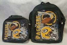 Brand New NWT NFL GREEN BAY PACKERS 2-Piece Backpack / Lunch-Bag Set Unisex Kids