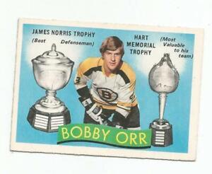"""1971-72 BOBBY ORR O-PEE-CHEE HOCKEY CARD #245 """"NICE"""""""