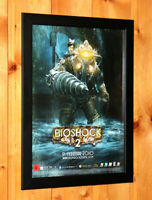 BioShock 2 Video game Rare Small Poster Ad Page Framed PS3 Xbox 360 Live