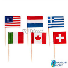 100 pcs Cocktail Decoration International Flag Picks Sticks Wedding Party