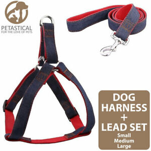 Petastical Dog Harness Lead set. Adjustable Custom fit. Easy Control. S/M/L size