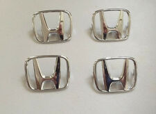(Lot of 4) HONDA WHEEL CENTER CAP/TRUNK LID CHROME SNAP-IN H EMBLEM/ LOGO 60001
