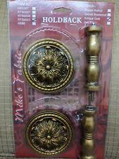 Wooden Curtain Holdbacks - Pair Gold RTB4003 Gold