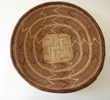 Handwoven Tribal African Basket Neutral Lightweight Ethnic Home Decor Textured