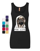 Pug Life Funny Tank Top Dope Thug Life Dog Parody Hipster Top