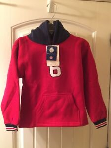 NWT OLE MISS STITCHED EMBROIDERED PULLOVER HOODIE YOUTH SZ SMALL LITTLE KING NEW
