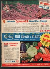 1976 SPRING HILL NURSERIES CATALOG-SEEDS-BULBS-PLANTS-FLOWERS-GARDENS