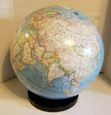 "Vintage 1984 National Geographic World Globe 16"" USSR"