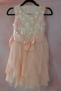 Bonnie Jean Girls Formal Sleeveless Dress Size 12 Pink Holiday Pageant