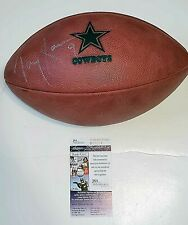TONY ROMO autographed signed Dallas Cowboys game issued Wilson NFL Football JSA