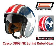 Casco Jet/Tipo Bandit con Visiera ORIGINE SPRINT Rebel-Star Taglia XL 61 cm