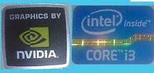 NUOVO INTEL INSIDE Core i3 + NVIDIA computer Windows 8 Adesivo PC 10 XP ORIGINALE 7