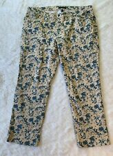 Ralph Lauren Jean Company Printed Modern Straight Ankle Jeans Pants Size 18W