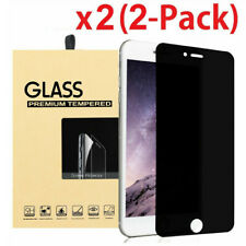 2-Pack For iPhone 5 6 7 8 Plus Privacy Anti-Spy Tempered Glass Screen Protector