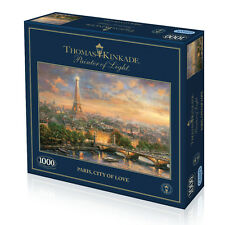 GIBSONS JIGSAW PUZZLE 1000 PIECES Paris, City of Love by THOMAS KINKADE G6210